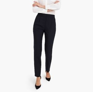 J Crew High Waist Slim Fit Navy Trousers NWT